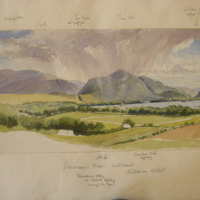 No 4 Panoramic view continued; Killarney District; Muckross Abbey; Col Herberts appearing amongst the trees