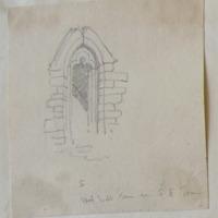 S wall window in SE tower Ferns Castle