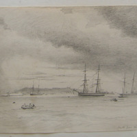 Howth from Kingstown Harbour. August 1847