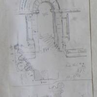 Angle buttress of Killaloe Cathedral. Door St. Flanan's Killaloe. Aug 1866