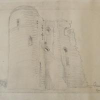 Ferns Castle. East wall