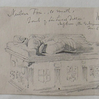 Newtown Trim Co. Meath. Tomb of Lord Lucas Dillon. Chief Baron of the Exchequer. Temp: Elizabeth. May 1859