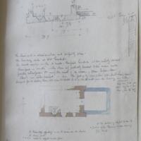 Lackan old church Co. Westmeath. Sheet 6/4 near Multyfarnham. 24 May 1864 [scaled anotated plan]