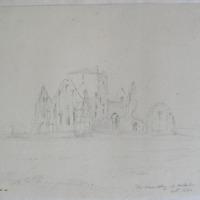 The Hore Abbey Cashel. Geo V Du Noyer Oct 1840