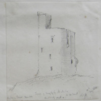 Tower of Moylagh old church. view looking North W. Co. W Meath. Sheet 15/1. 12 May 1864
