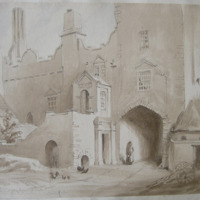 In the courtyard of Drymnagh Castle. March 9. 1842
