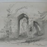 The Lady's Abbey near Ardfinnan Co. Tipp. Choir arch in tower arch