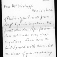 Letter from H. T. Knox to Thomas J. Westropp, 25 February, 1908