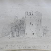 The Castle of Newcastle Co. W Meath near Castlepollard. Sheet 3/1. middle 14th century. 23 July 1864