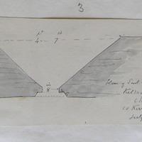 Plan of east window Kilmalkedar Church Co. Kerry July 56