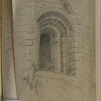 Doorway Kildare Round Tower. 10 August 1857