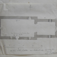 Old church of Lickbla near Rockbrook Mills Co. W. Meath. Sheet 3/1 North of Castlepollard [scaled plan]
