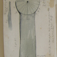 Ancient sundial from the bank of the stream 200ft ESE of the old church of Clone. Co Wexford.Sheet 15/4. G. V. Du Noyer 16 June 1862