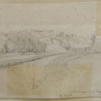 Rossnaree on the Boyne below Slane. 14 May 1866
