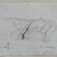 ? Cave at the white rocks Portrush. Depth 250 feet. Chalk Cliffs Co. Derry