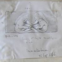 Monasterboice. 28 Sept 1866. base of 2nd ? N. side [High Cross]