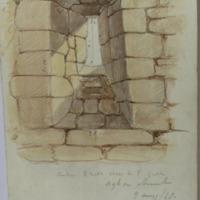 Window S wall close to east gable. Agha church 9 May 48 Co. Carlow