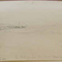 Ventry Harbour; August 1856; The Bulloge from the sea; Wave rising on a calm day