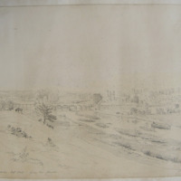 Leighlin Bridge. Sept 1848. from the Church. Geo: V Du Noyer Delt