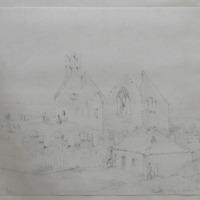 Howth abbey - looking N; Geo: Du Nr; April 1841