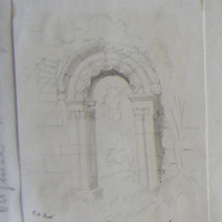 Doorway old church Rahan