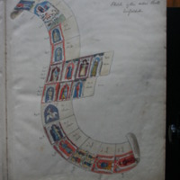 Illustrated overview of the entire Waterford Charter roll with the description 'Sketch of the entire Roll unfolded'.