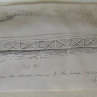 Stone over the entrance passage to New Grange sepulchral chamber Geo: V Du Noyer Sept 1866