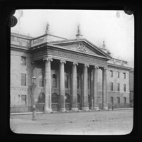 View of the General Post Office (GPO), O'Connell Street Dublin.