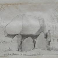 Cromleac. Glendruid Co. Dublin. View looking East. Feb 1867