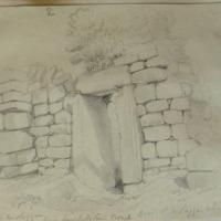 Labba Mologga. Near Mitchelstown Co. Cork. Door to St Molaggas Church April 1852