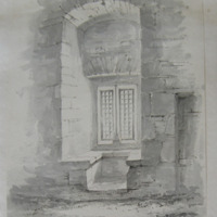 Cahir Castle Co. Tipp. Interior of window in the tower of Cahir. Sept 1840