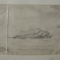 The little Sovereign Island in a gale. 1st Nov 1852