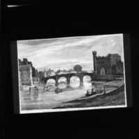 Illustration, Barracks Bridge and Queen's Bridge, Co. Dublin, Ireland