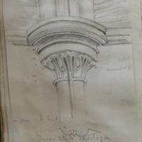 Inner angle ? Pillaster of groining. Baptistery Mellifont June 1866