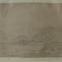 Gougane Barra Lake and Island, April 10, 1852. Inchigeelagh Lake and Island Co. Cork - which one??