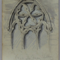 Black Abbey Friary. Kilkenny. S Wall [window]
