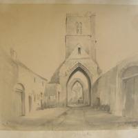 St. Mary's Friary Drogheda January 21 1840 Geo: V Du Noyer