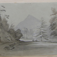 Sugar Loaf from the Glen of the Downs. April-27-1842. GVD