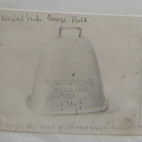 """Ancient Irish bronze bell. """"Pray for the soul of Chumascach mac Aillello"""""""
