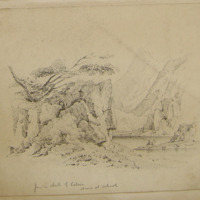 from a sketch by Petrie drawn at school