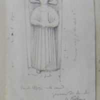 small effigy. Well carved. Gowran old church Co. Kilkenny