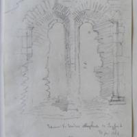 Interior E window Abbeyshrule Co. Longford. 30 June 1864 [elevation & plan]