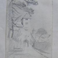 Inner gate Lismore Castle. Co. Cork [Waterford]. April 52