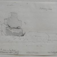 Calvary Cross. Cross on bye road Td. Of Robinstown Upper. Sheet 3/2 Co. W. Meath. Near Castlepollard
