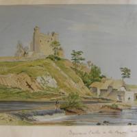 Dunmoe Castle on the Boyne near Navan
