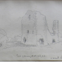 Tower of Clonarn3y old church looking S.E. Co. W Meath. Sheet 4/3