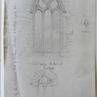 East window old church at Fox Hall. Co. Longford Sheet 4/1. near the village of Legan.