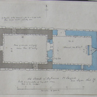 Old Church of Agharra Co. Longford near Lagan. Sheet 24/3. 30 June 1864 [scaled annotated plan]