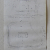 [annotated Plan] Although the door is of the antique form I am inclined to suppose that it is but a copy of the original doorway.