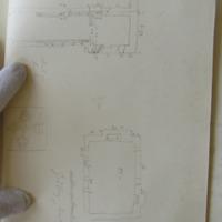 "sketch plan of Church of Knockgraffon; sketch plan of ""Godfrey's Dwelling"""
